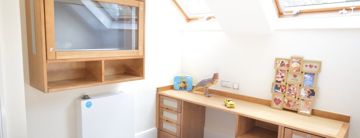 Secure bedroom with fitted cabinet