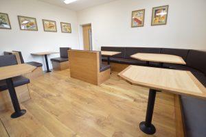 Secure communal dining area