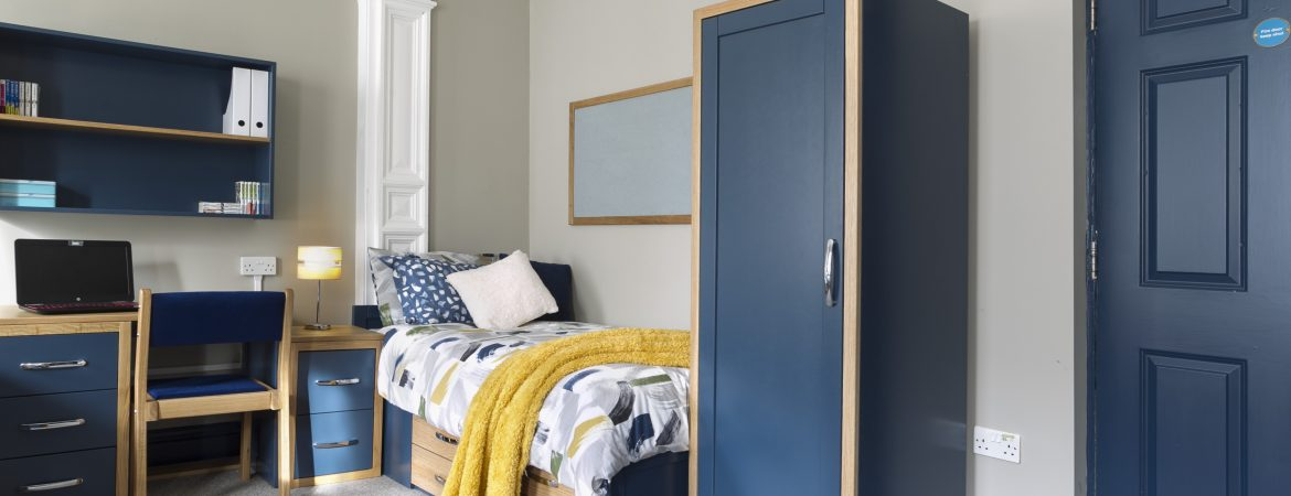 Navy Blue Dormitory Furniture